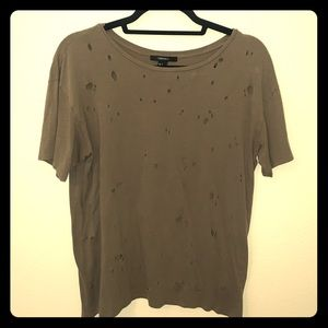 Forever 21 Green Distressed Tee